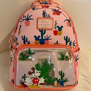 Cactus Mickey Mouse Mini Backpack NWT